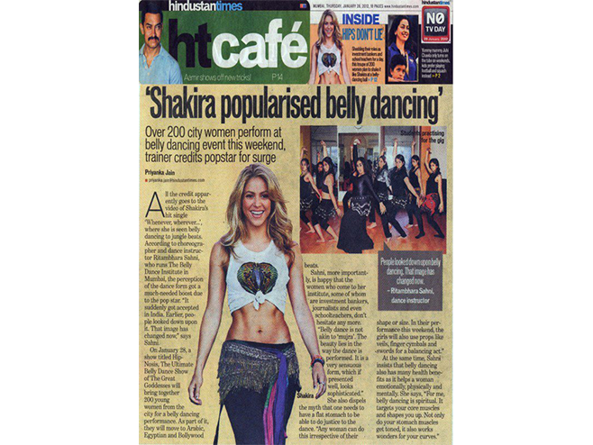 Articles on Belly Dance Classes in Mumbai by Ritambhara Sahni