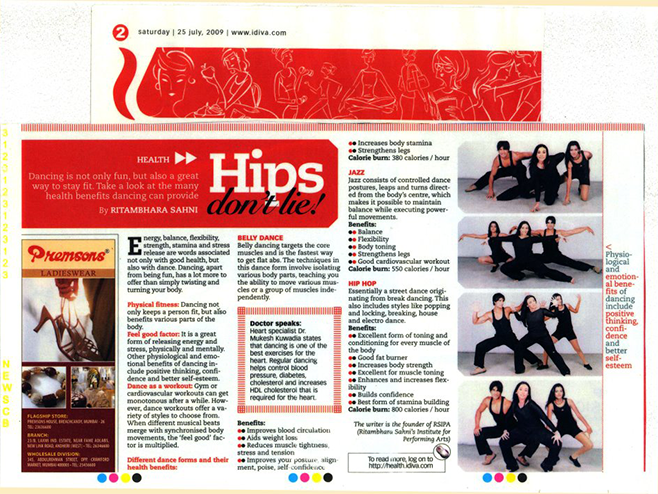 Media reviews Belly Dance Institute Mumbai by Ritambhara Sahni